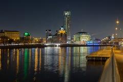 Moscovo na noite Fotografia de Stock