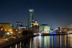Moscovo na noite Imagem de Stock Royalty Free