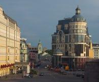 Moscovo no por do sol foto de stock