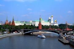 Moscovo o rio Foto de Stock Royalty Free