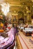 Moscovo, opinião do interior da loja de Eliseevsky Imagens de Stock