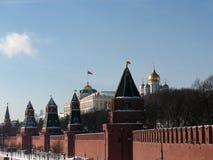 Moscovo. A parede de Kremlin. Fotos de Stock Royalty Free