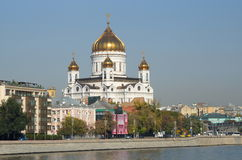 Moscovo, Rússia Catedral de christ o salvador Imagens de Stock Royalty Free