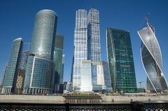 Moscovo, Rússia Centro de negócios foto de stock royalty free
