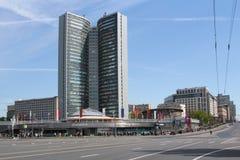 Moscovo, Rússia A construção do governo municipal de Moscou Imagens de Stock Royalty Free