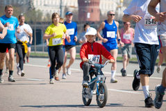 MOSCOW – MAY 2: Participants in action at XVII M Royalty Free Stock Image
