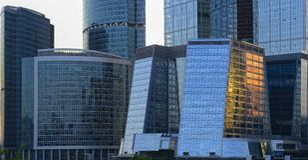 Moscow-Город делового центра Стоковое Фото