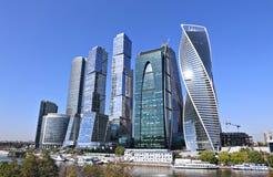 Moscow-Город делового центра стоковое фото rf