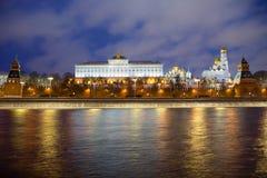 moscow Грандиозный дворец Кремля Стоковые Фотографии RF