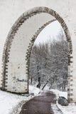 moscow Мост-водовод Rostokinsky Стоковые Фотографии RF