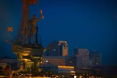 moscow Россия Часть памятника к императору Питеру Gr Стоковые Изображения