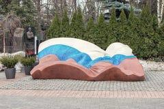 moscow Россия 3-ье марта 2017: Кладбище Novodevichy, самое известное кладбище в Москве, России стоковая фотография rf
