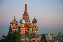 moscow Собор Pokrovsky (собор базилика St) Стоковое Изображение
