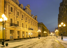 moscow Утро на старой улице Arbat Стоковая Фотография RF