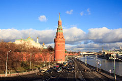 Moscow. View on Moscow, roads close to the Kremlin Royalty Free Stock Image