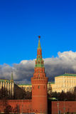 Moscow. View on Moscow, Ruussia. The Kremlin premises Royalty Free Stock Photo