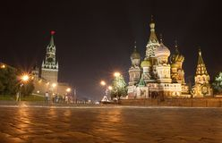Moscow. St Basil cathedral, Red Square, Moscow stock photos