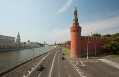 Moscow. With the river Moskva and the wall of the Kreml stock photos