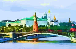 Moscow. Abstract blure Moscow in vector Royalty Free Stock Photos