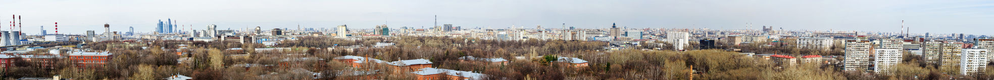 Moscow aerial panorama at day time Royalty Free Stock Photography