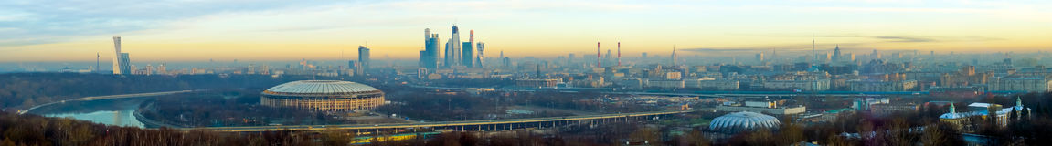 Moscow aerial panorama Stock Images