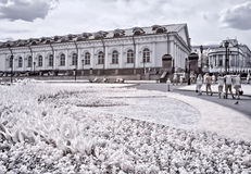 Moscow. Alexander Garden. Infrared photo Stock Images