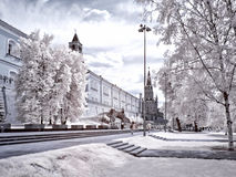 Moscow. Alexander Garden. Infrared photo Royalty Free Stock Photography