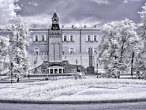 Moscow. Alexander Garden. Infrared photo Royalty Free Stock Images