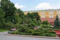 Moscow Alexander Garden near Kreml 3. The Alexander Garden near Kreml in Moscow stock image