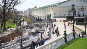Moscow. Alexander Garden. Timelapse stock video footage