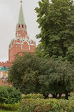 Moscow. Alexander Garden.View of the Troitskaya Tower Stock Image