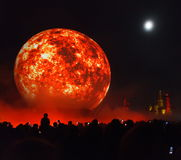Moscow annual Festival Circle of Light Stock Images