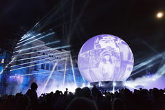 Moscow annual Festival Circle of Light Royalty Free Stock Photo
