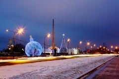moscow Ano novo no monte de Poklonnaya fotografia de stock royalty free