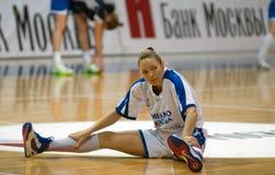 Dynamoförsvarare Ilona Korstin Fotografering för Bildbyråer