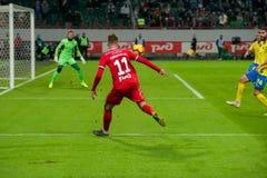 Midfielder Anton Miranchuk 11 on the soccer game