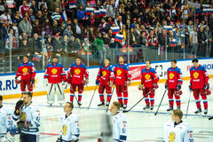 MOSCOW - APRIL 30, 2016: The players Russian National Team  and Stock Images