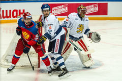 MOSCOW - APRIL 30, 2016: The players Russian National Team  and Royalty Free Stock Photo