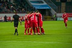 Lokomotiv celebrates a goal scored