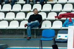 V. Soloviev on a basketball game Royalty Free Stock Photo