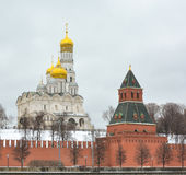 MOSCOW.Archangel and Annunciation Cathedral. stock images