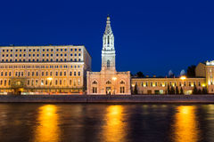 Moscow architecture by night Stock Image