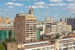 Moscow arkitektonisk schizofreni royaltyfri bild