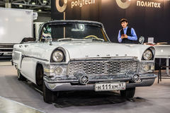 MOSCOW - AUG 2016: GAZ M13 Chaika presented at MIAS Moscow International Automobile Salon on August 20, 2016 in Moscow, Russia Stock Image