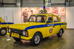 MOSCOW - AUG 2016: IZH-412 militia police GAI presented at MIAS Moscow International Automobile Salon on August 20, 2016 in Moscow. Russia Stock Photos
