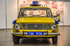 MOSCOW - AUG 2016: LADA VAZ 2101 militia police GAI presented at MIAS Moscow International Automobile Salon on August 20, 2016 in Stock Photography