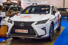 MOSCOW - AUG 2016: Lexus RX 350 presented at MIAS Moscow International Automobile Salon on August 20, 2016 in Moscow, Russia Stock Photography