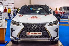 MOSCOW - AUG 2016: Lexus RX 350 presented at MIAS Moscow International Automobile Salon on August 20, 2016 in Moscow, Russia Royalty Free Stock Photos