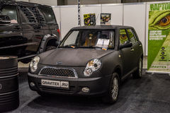 MOSCOW - AUG 2016: Lifan 320 Smily presented at MIAS Moscow International Automobile Salon on August 20, 2016 in Moscow, Russia Stock Images