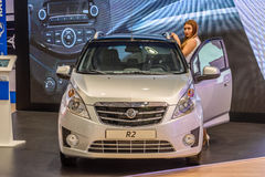 MOSCOW - AUG 2016: Ravon R2 presented at MIAS Moscow International Automobile Salon on August 20, 2016 in Moscow, Russia Royalty Free Stock Photo